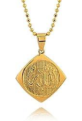 Dainty Allah Calligraphy Necklace Pendant Religious Spiritual Jewelry
