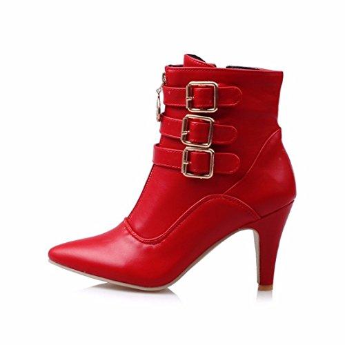 Ms. winter pointed boots boots size belt buckle gules DZHHR9