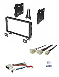 Double Din Car Stereo Radio Install Kit and Wire Harness for Ford: 04-06 Expedition (No Nav), 02-05 Explorer, 01-04 Mustang; Lincoln: 03-05 Aviator, 03-06 Navigator (No Nav), 02-05 Merc Mountaineer
