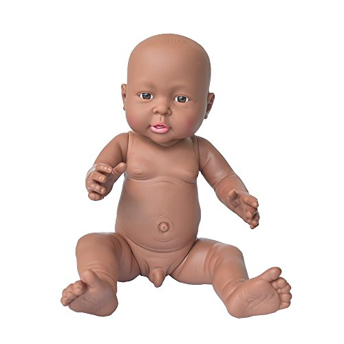 Search : African American Baby Doll, Rifi 16 Inches Nontoxic Naked Latex Rotocast Blcak Baby Doll Boy