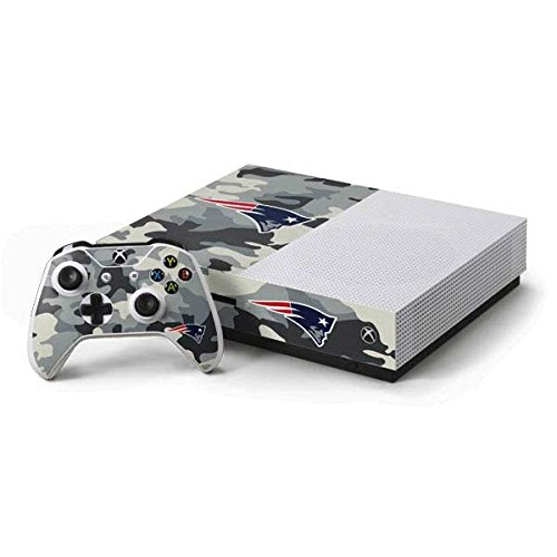 New England Patriots Xbox One S Console and Controller Bundle Skin – New England Patriots Camo | NFL X Skinit Skin For Sale
