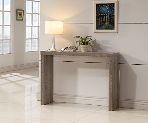 Dark Taupe Finish Modern Console Sofa Entry Table