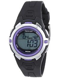 Marathon by Timex Women's T5K364 Digital Mid-Size Black/Purple Resin Strap Watch