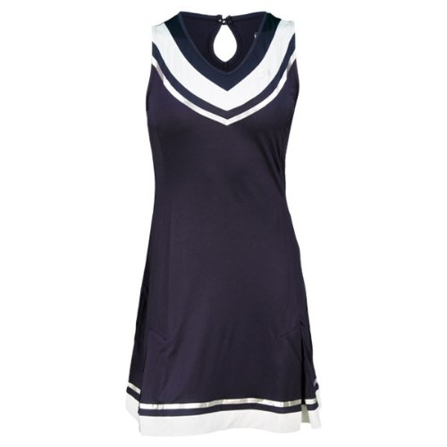 Sergio Tacchini SHANA Dress Women's (nvy/wht/silv) - Small (Sergio Clothing Tacchini Tennis)