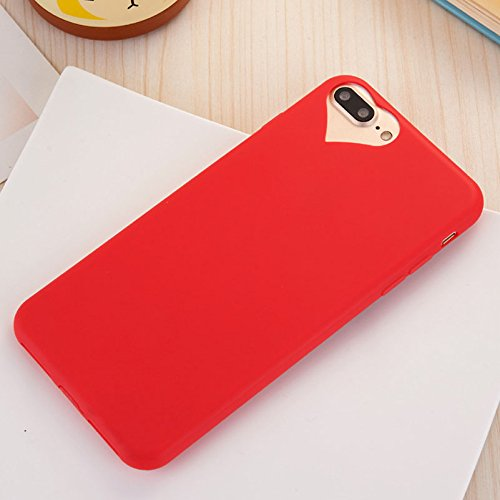 Cute Love Heart Hole Rubber Gel TPU Soft Case for Apple iPhone 8 7 Plus 5.5