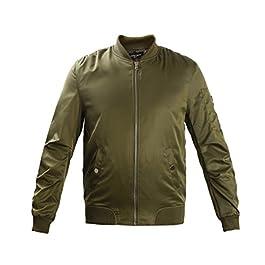 Men and Youth Flight Jacket Baseball Bomber Coat