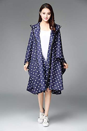 coat Des Parka De Pluie Eva Poncho Punkte Laisla Fashion Fille Moto Imperméable Classique Blauen Floral Femmes Motif Trench 6wtqnO
