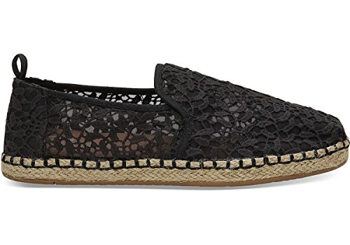 Ankle Deconstructed Leaves Toms Chambray Black Shoe Women's Alpargata Canvas High Flat 6q6C7IxA