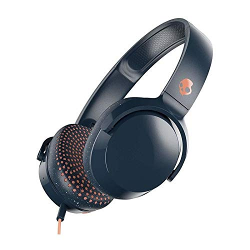 (Skullcandy Riff On-Ear Headphones with Microphone, Refined Acoustics, Foldable, Call and Track Control, Plush Ear Cushions with Durable Headband, Blue and Sunset)