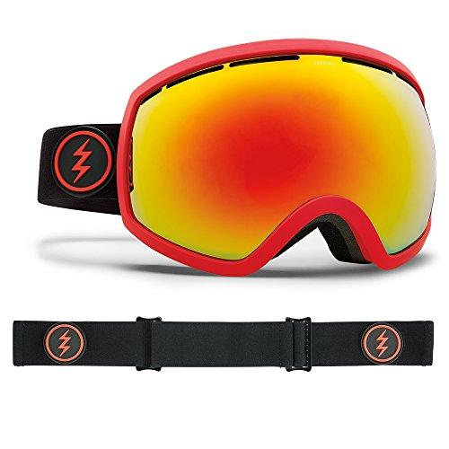 Electric Visual EG2 Black Red/Brose Red Chrome Snow Goggle (Eg2 Snow Goggles)