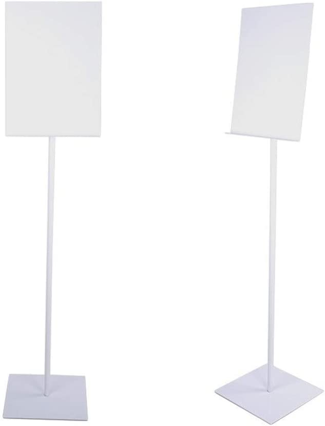 Poster Display Stand Adjustable Poster Stand Replaceable Advertisement Sign Stand Floor-Standing Poster Board Poster Sign Display Holder For Trade Exhibition Retail Stores Restaurants Poster Display S
