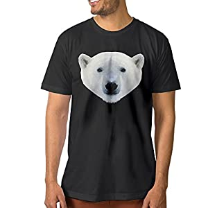 A-Custom Art Irregular Figure Animal Polar Bear Men's Particular T Shirts Black XXL