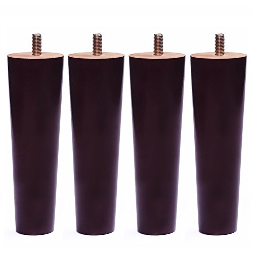 Round Solid Wood Furniture Sofa/Chair/Couch/Loveseat/Cabinet Replacement Legs (8 Inches,Set of 4) - Round Wood Cabinet