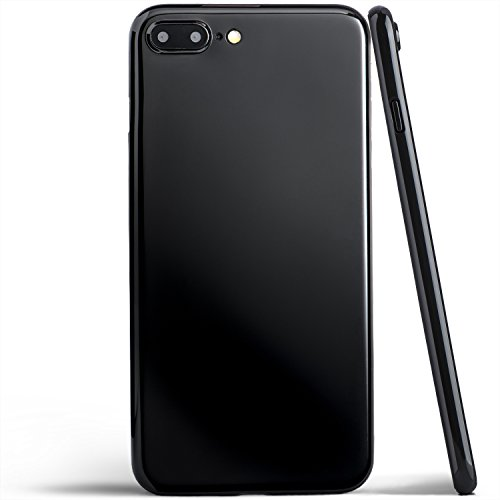 Totallee iPhone 8 Plus Case, Thinnest Cover Premium Ultra Thin Light Slim Minimal Anti-Scratch Protective - For Apple iPhone 8 Plus | totallee The Scarf (Jet Black) (Iphone Plus For Scarf)