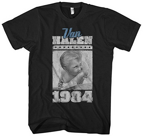 Offiically Licensed Van Halen 1984 Album Sleeve T-shirt for Men, S to XXL