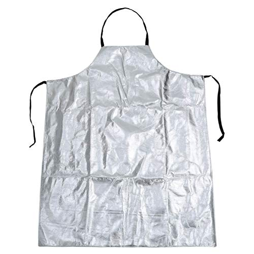 Mufly Apron Bib Style Aluminized Heat Resistant Apron Flame Resistant Apparel Safety Coat Splash Proof Aluminized(sleeveless)