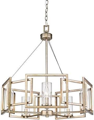 Golden Lighting 6068-5 WG Marco Chandelier, White Gold