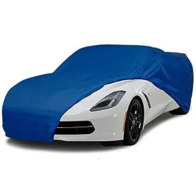 C7 Corvette Stingray Semi Custom Car Cover Blue Fits: All 2014 through 2018 Corvettes
