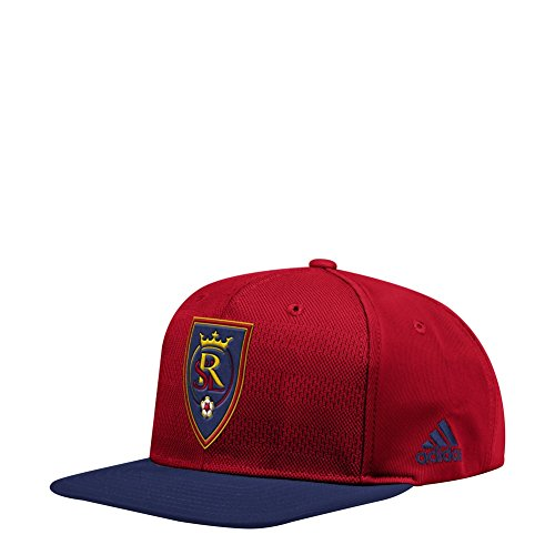 adidas Real Salt Lake Snapback Hat Authentic Flat Brim Cap by adidas