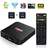 TUREWELL T95 S1 Android TV Box, Android 7.1 tv Box Amlogic S905W Quad Core 2GB RAM 16GB ROM Media Player with Digital Display HDMI HD 4K Ethernet WiFi 2.4GHz