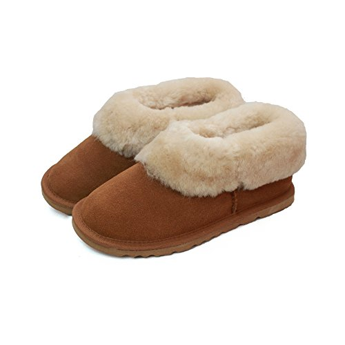 Lined Womens Sheepskin Counties Slipper Ladies Eastern Leather Chestnut Boots Fw7gTq
