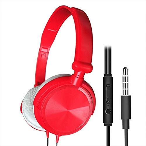 DALADA Wired Headphones With Microphone Over-Ear Headsets Bass Sound Music Stereo 3.5mm Stereo Headset with Headphones…