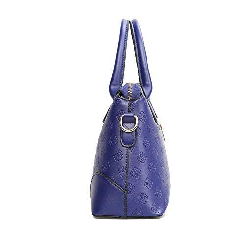 Rosso Donna AgooLar Azzurro Shopping a Borse Luccichio Borse GMMBA222086 tracolla Rq1qdF