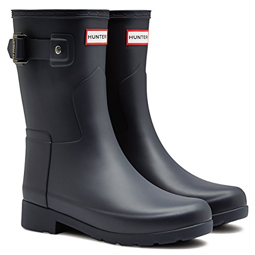 Womens Jager Origineel Geraffineerde Korte Wellingtons Snow Rain Winter Boots Navy