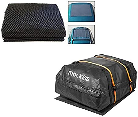 Mockins 39X43 Protective Car Roof Mat for Any Car Roof Storge Cargo Bags with A Strong Grip and Extra Cushioning The Car Roof Pad Can Be Used On Your Car and SUV Or Truck