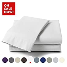 Bamboo Comfort Originals Bedding - Micro-Bamboo 4 Piece Bed Sheet Set - Feel the Difference (White, Queen)