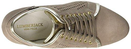 Lumberjack Damen Danielle Niedrige Sneaker Beige (Taupe/Gold)