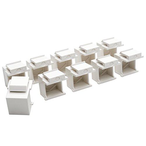 (TRIPP LITE Snap in Blank Keystone Jack Insert, 10 Pack, White (N040-010-WH))