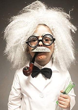 Magic Box Peluca científica del científico Enojado del Estilo de Einstein de los niños: Amazon.es: Juguetes y juegos