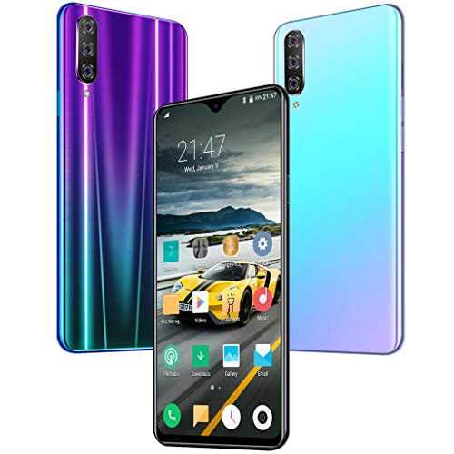 Sodoop M9 Smartphone, 6.3 inch 8 Core Waterdrop Touch Screen Fingerprint Unlocked HD Camera Face Recognition Smartphones for Android 9.1 WiFi 16GB Blueteeth GPS Dual-SIM 3G Call Mobile Phone (Blue) ()