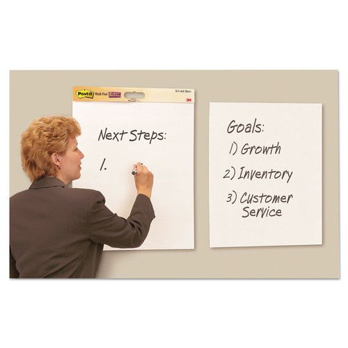 White 4 Pads//carton Post-it Easel Pads Super Sticky 566 Self Stick Wall Easel Unruled Pad 20 X 23 20 Sheets