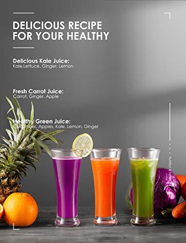 Centrifuga Frutta e Verdura Aicok Estrattore di Succo a Freddo con 65MM Bocca, Piedi Anti-scivolosi e Facile Pulizia… 6