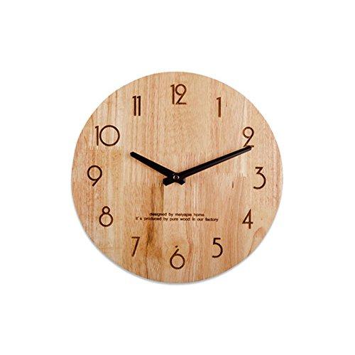 12インチの木の壁の時計リビングルームサイレントシンプルなファッションの壁時計北欧 (Color : Digital) B07D5PFJ33 Digital Digital
