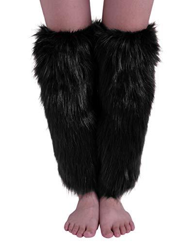 Nanxson Women's Knit Acrylic Long Leg Warmer with Fur TTW0034 (Best Nanxson Winter Boots)