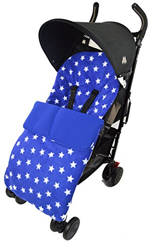 Fleece Footmuff / Cosy Toes Compatible with Quinny Pushchair Buzz Moodd Mura Zapp Blue Star