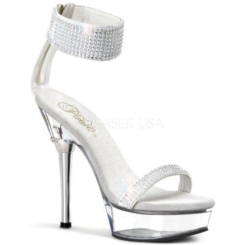 Pleaser Women's Allure 640 Sandals,White,11 M