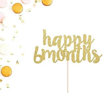 Excellent Happy 6 Months Cake Topper 1 2 Birthday Cake Topper 6 Months Personalised Birthday Cards Paralily Jamesorg