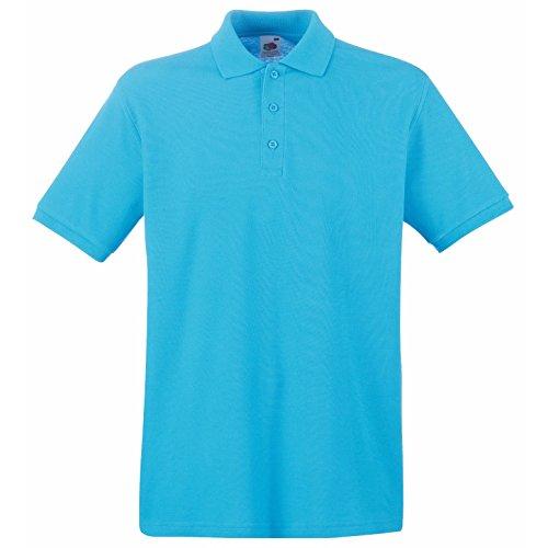 Azur Loom De Ss5–polo Supérieure Piqué Coton Bleu Of Qualité The Fruit 6q7Ax