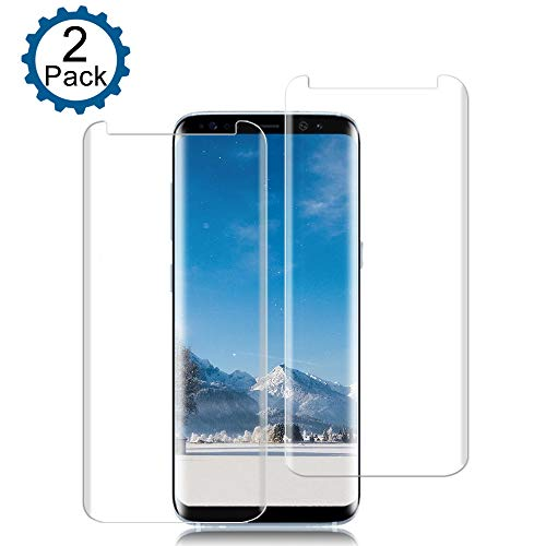 Lanxks Samsung Galaxy S8 Screen Protector 3D Curved Tempered [Anti-Bubble][9H Hardness][HD Clear][Anti-Scratch][Case Friendly] Glass Screen Film for Samsung Galaxy S8