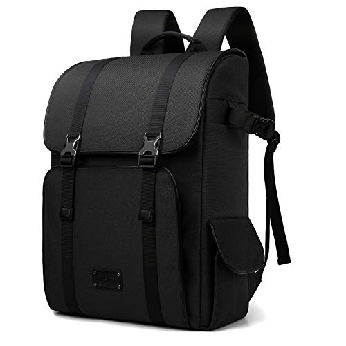 BAGSMART Camera Backpack Photo Rucksack with 15.6 inches Laptop Compartment & Rain Cover, Black