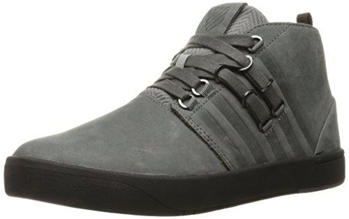 K-Swiss Men's D R Cinch Utilitarian Fashion Sneaker, Charcoal/Jet Black, 9 M US