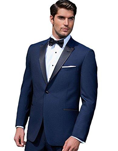 2 Piece Tuxedo (Giorgio Fiorelli Men's G47815 1-Button Modern Fit Two-Piece Tuxedo Suit Set - Blue - 54L)