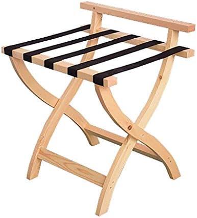 ZWH-ZWH 荷物はルーム荷物ラック、ホテルホームソリッドウッド折りたたみ荷物ラック、旅行休憩スツール、ベッドルームのために木材の色23.6 * 18.5 * 26.8インチラック 手荷物棚