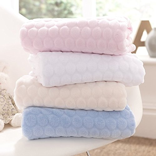 Clair de Lune Marshmallow Baby Blanket (White) CL5170W