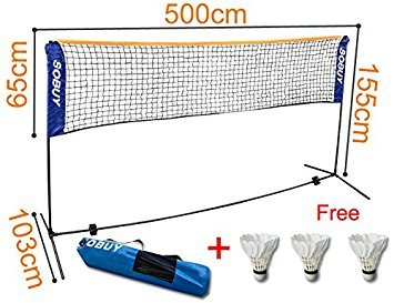 Buy Sobuy Height Adjustable Tennis Nets Badminton Net With Stand Frame Includes Fastening Devices Sfn03 Lengthen 500 Cm 196 8inch Online At Low Prices In India Amazon In