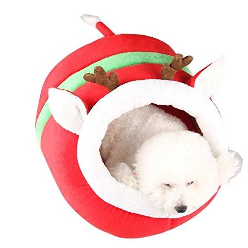 Fancy País mascotas perro cachorro gato Warm Cama Casa Conejo Nest Papá Noel Regalo Navidad Reno Styling rojos Zapatillas Doghouse: Amazon.es: Productos ...